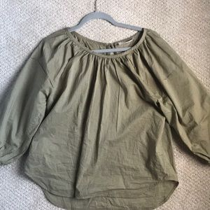 Everlane Air Ruched Blouse size 2